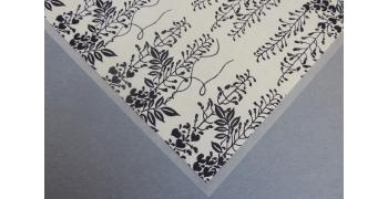 Papier Yuzen glycine bleue