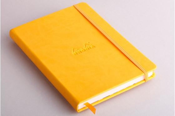 Carnet A5 jonquille Rhodiarama webnotebook en molelskine