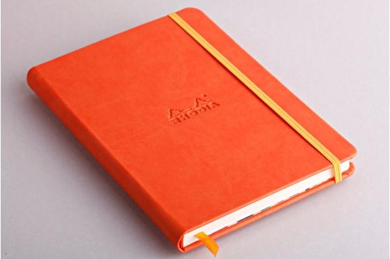 Carnet A5 tangerine Rhodiarama webnotebook en molelskine