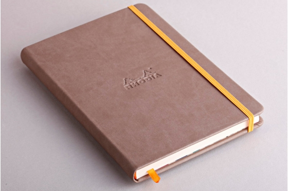 Carnet A5 taupe  Rhodiarama webnotebook en molelskine