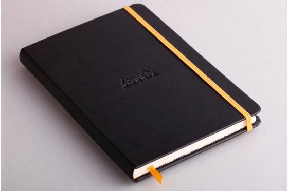 Carnet A5 noir  Rhodiarama webnotebook en moleskine