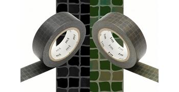 2 Masking Tape tomettes cirées