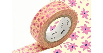 masking-tape deco© fleurs roses