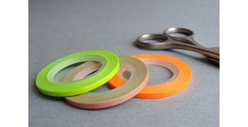 3 masking-tape slim© fins néon et pois 3mm