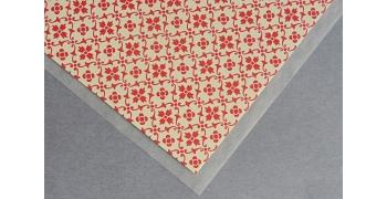 Papier florentin - motif tapisserie fleur rouge