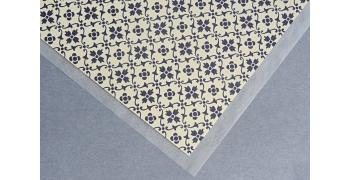 Papier florentin - motif tapisserie fleur bleue