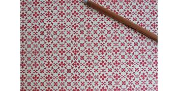 Papier florentin - motif fleur rouge tapisserie