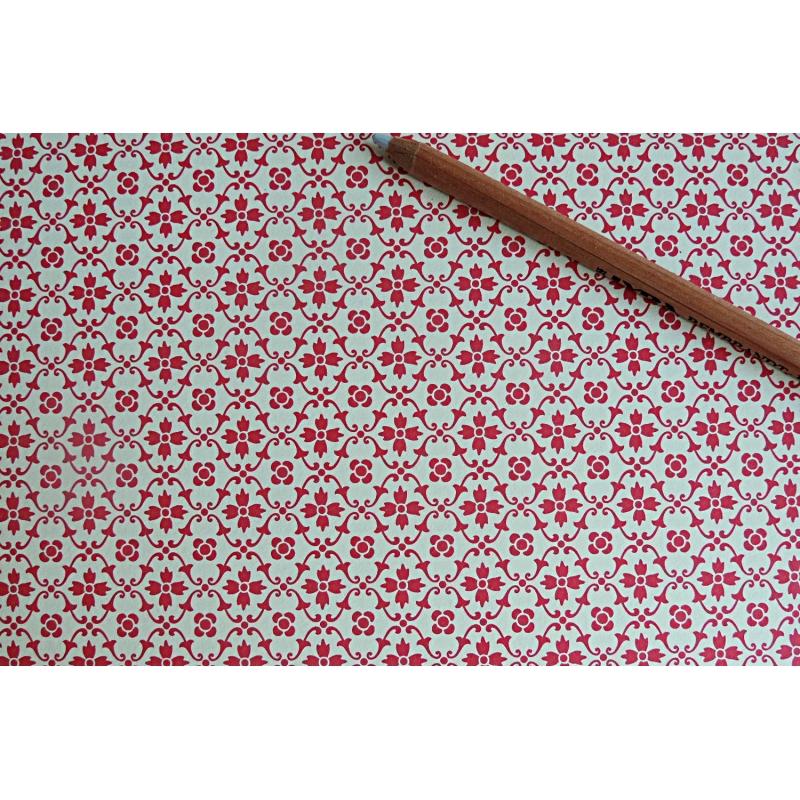 Papier florentin motif fleur rouge tapisserie les - Motif tapisserie ...