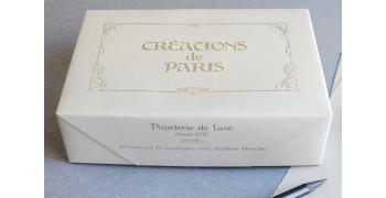 Cartes et enveloppes Création de Paris crème