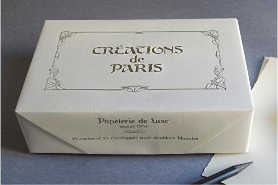 Cartes et enveloppes Création de Paris perle