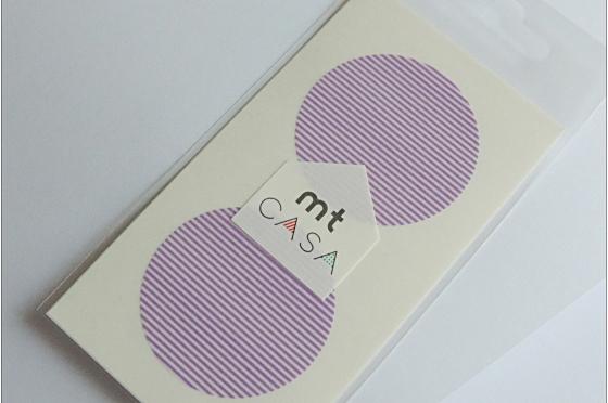 mt casa sticker rond  violet rayé