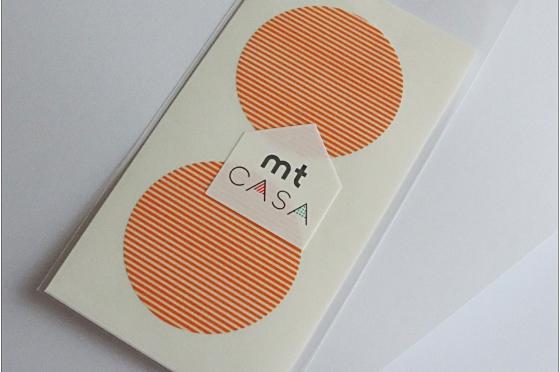 mt casa sticker rond orange rayé