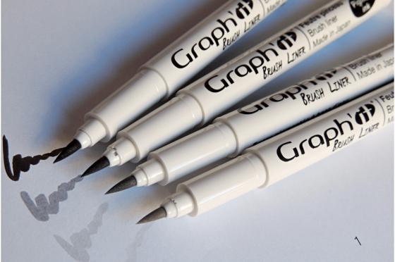 4 brush liners Graph'it© - noir