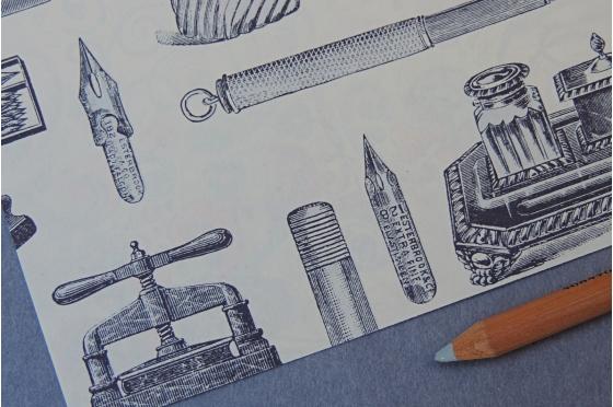 Papier décoratif Rossi1931© - Instruments d'écriture
