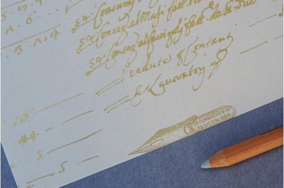 Papier décoratif Rossi1931© - Ecriture manuscrite or