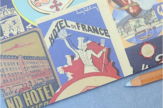 Papier florentin Rossi1931© - Etiquettes hôtels