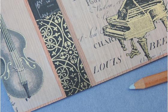 Papier décoratif Rossi1931© - Instruments de musique