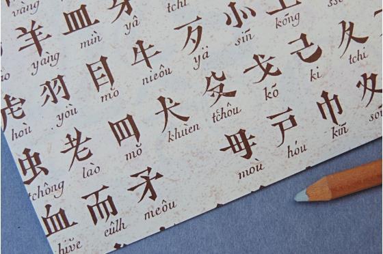 Papier décoratif Rossi1931© - Caractères chinois
