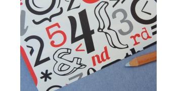 Papier décoratif Rossi1931© - Nombres vintage