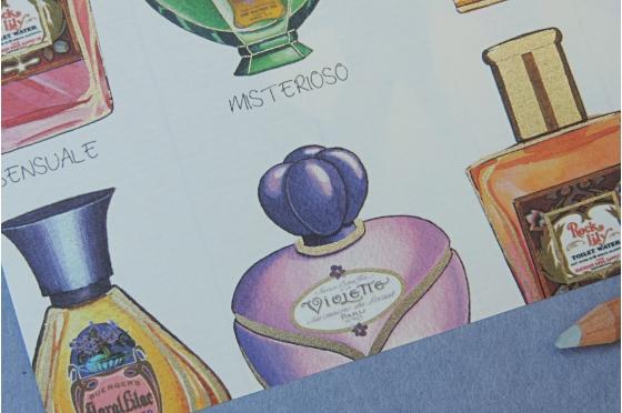 Papier décoratif Rossi1931© - Parfums