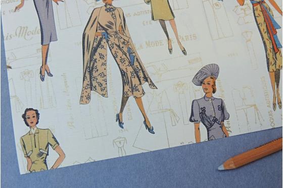 Papier décoratif Rossi1931© -  Mode Parisienne