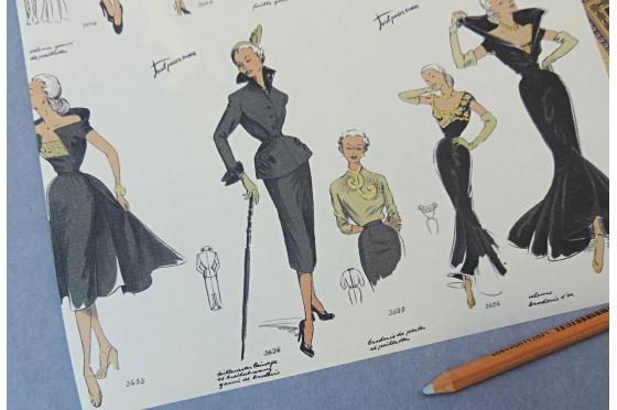Papier décoratif Rossi1931© - Mode femme