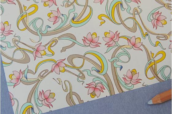 Papier décoratif Rossi1931© - Art Nouveau
