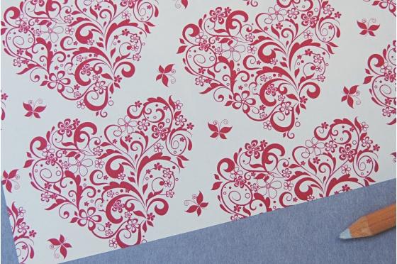 Papier décoratif Rossi1931© - Coeurs & papillons