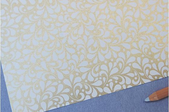 Papier décoratif Rossi1931© - Floral sur fond or