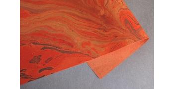 Papier indien marbré gold corail