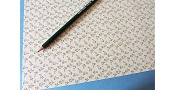 Papier florentin - petites fleurs jaune orange