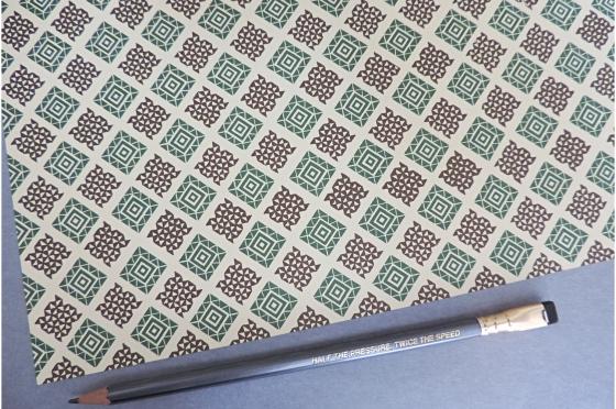 Papier florentin -Tangram vert brun