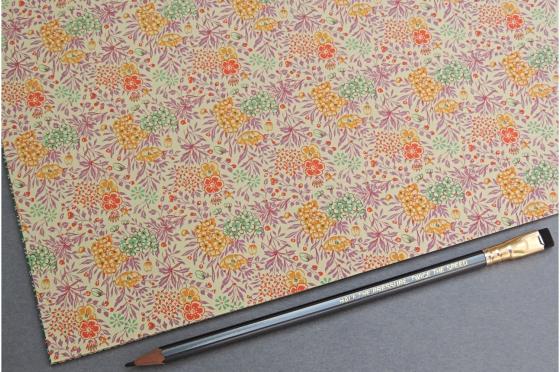 Papier florentin - fleurs des champs rose