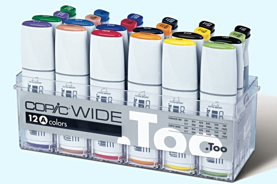 Copic Wide Set A 12 marqueurs & 12 encres