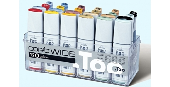 Copic Wide Set B 12 marqueurs & 12 encres