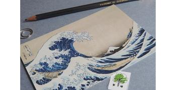Sous la vague Hokusai.