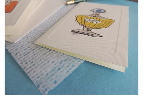 12 cartes de correspondance letterpress