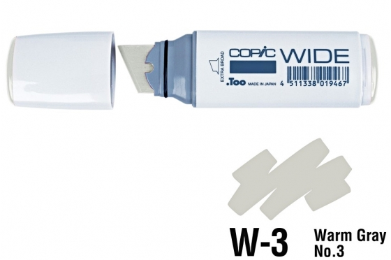 Copic Wide W3 warm gray N°3