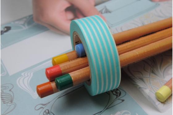 masking-tape deco© Border pastel blue