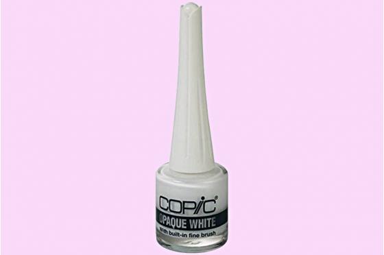 Copic opaque white fine brush