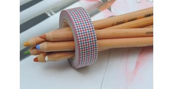 masking-tape deco© hougan red & blue