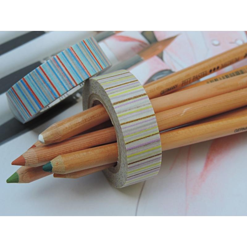 2 masking tape deco lign bleu les papiers de lucas for Ligne deco