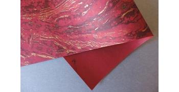 Papier indien marbré Magma