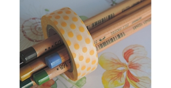 masking-tape deco© pois abricot