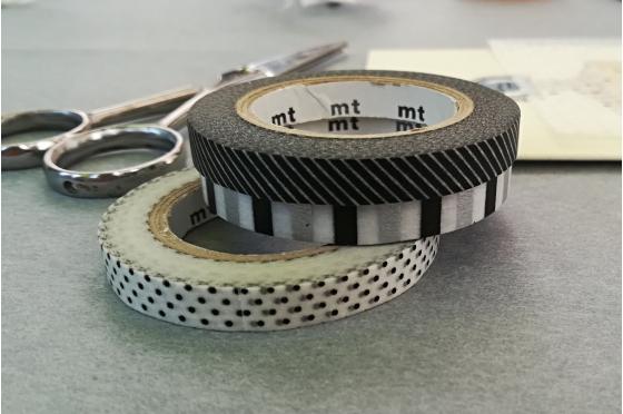 3 masking-tape slim© fins hachurés