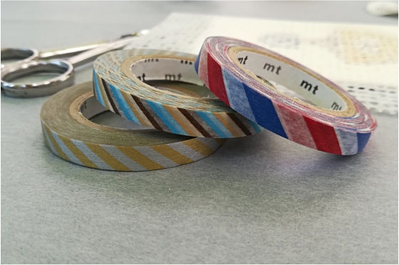 3 masking-tape slim© fins twist cord