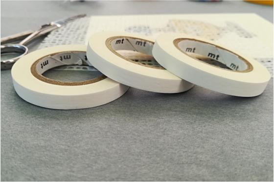 3 masking-tape slim© blanc mat