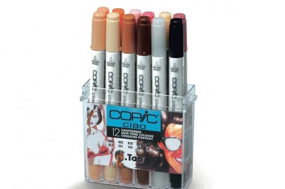 Set de 12 feutres Copic Ciao coloris de base