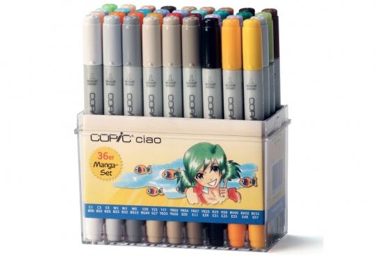 Set de 36 feutres Copic Ciao SET Manga