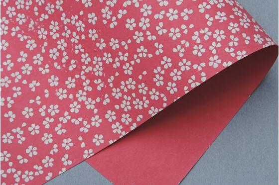 Papier indien sakura framboise.